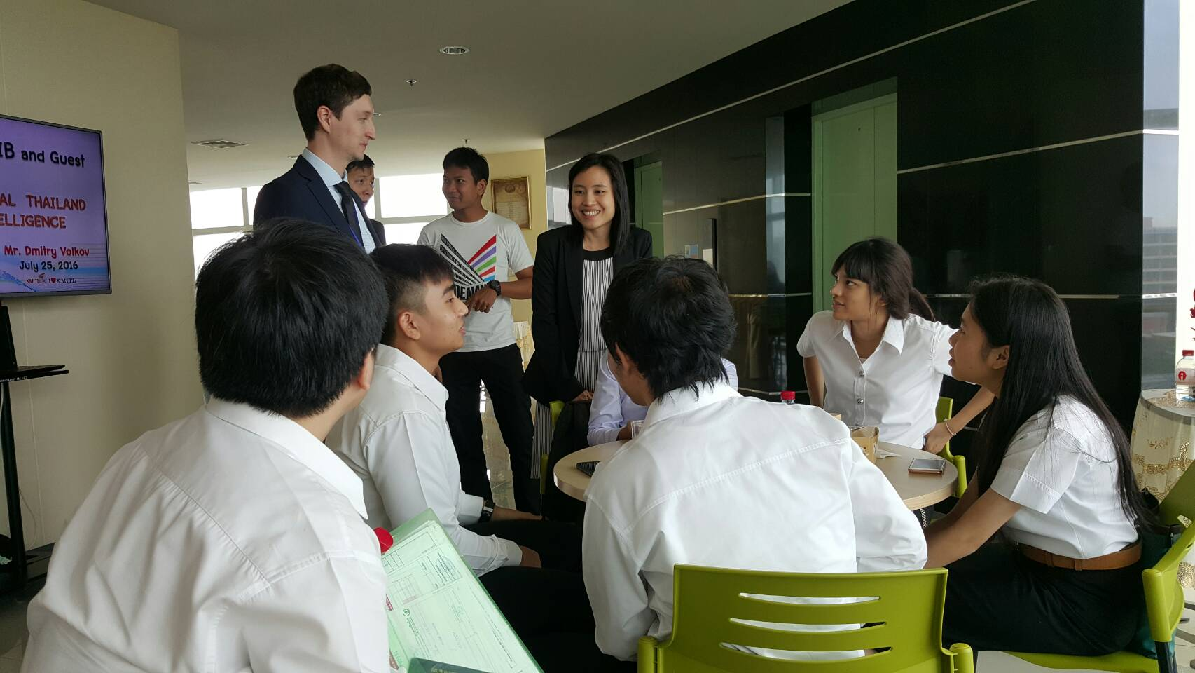 Meeting with students